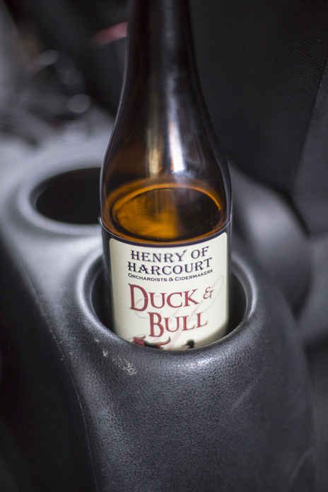 cider in car