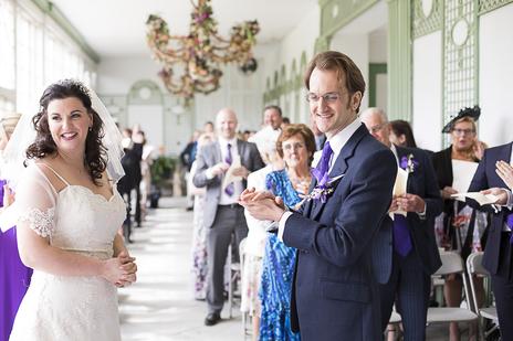 bride and groom wedding photo port eliot, cornwall