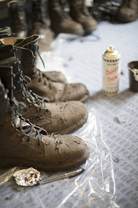 muddy boots backstage for special effects and make up skills
