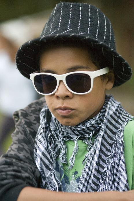 cool kid sunglasses portrait photo festval