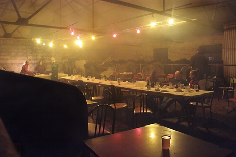 end of the night mess after a wassail