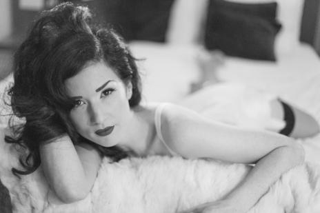 film still missy fatale portrait black and white to camera
