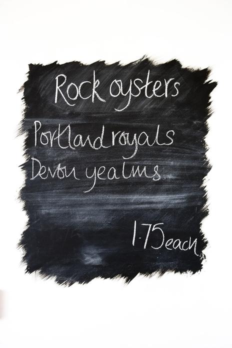 blackboard painted menu
