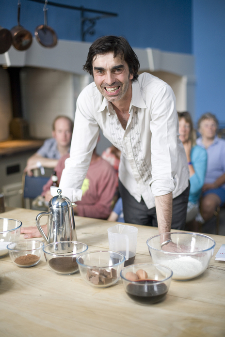 Chef Mark Crick smiling into camera