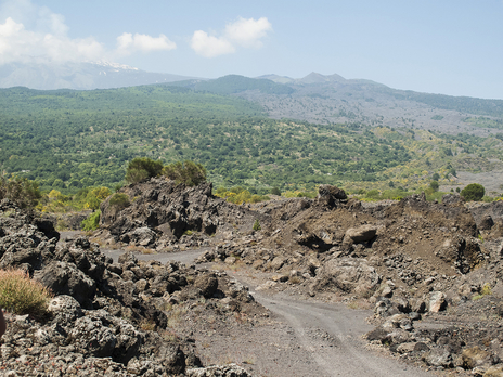 tourism photo view of Mount Etna