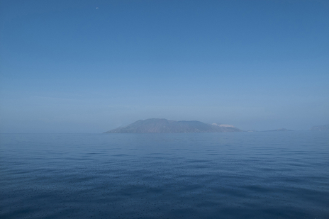 island of Lipari photo taken at sea
