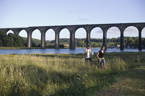 landscape photo of viaduct in Cornwall