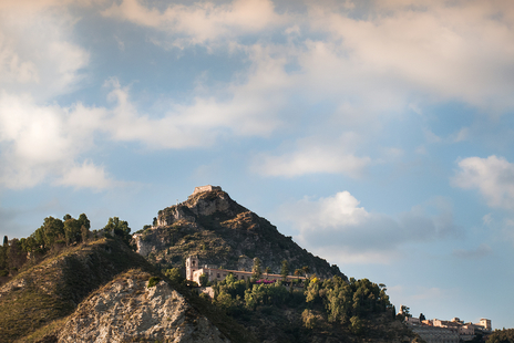 landscape photograph of Sicilian mountain village