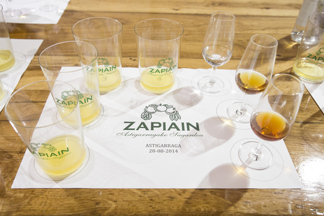 tasting glasses cider spain photo