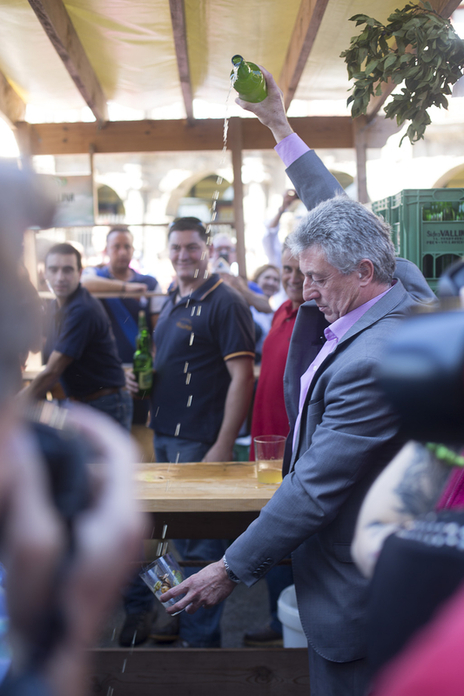 minister of culture Europe during cider at festival in Spain photo