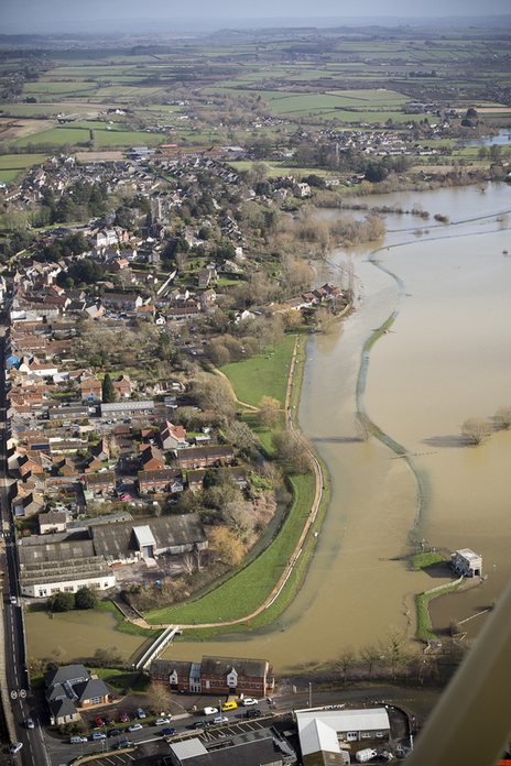 Langport town on the edge of the Somerset Levels floods photo