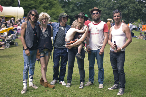 photo of band Loose Salute looking cool at a festival