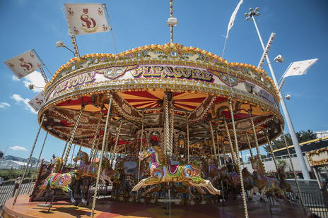 merry go round tourism photo dorset
