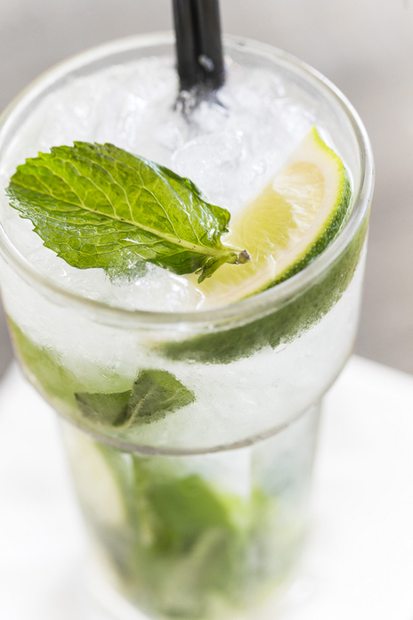 Photo of an icy, fresh cool looking Mojito cocktail drink
