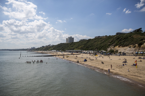 bournemouth beach sunny day tourism photo dorset