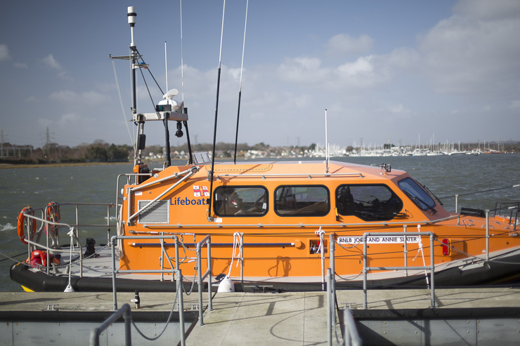 RNLI lifeboat sitting quietly