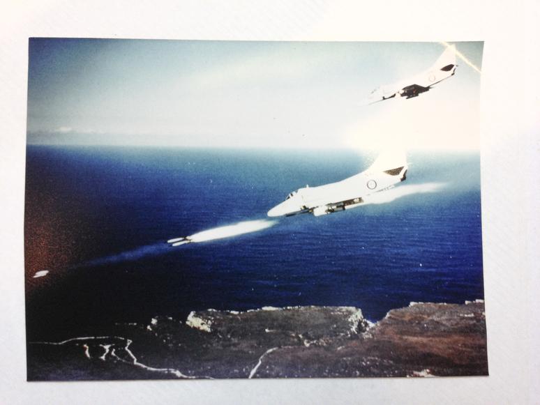 two jets fire rockets