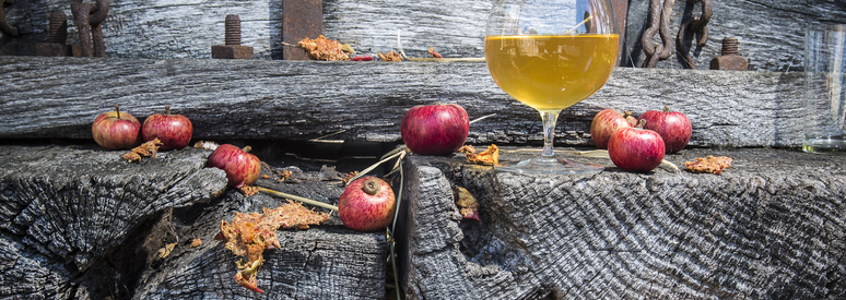 cider apples on old wood