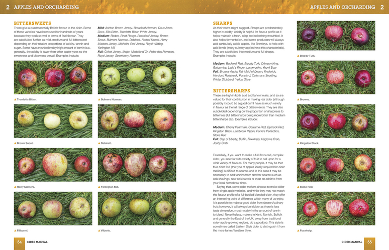 cider manual book preview - apple types