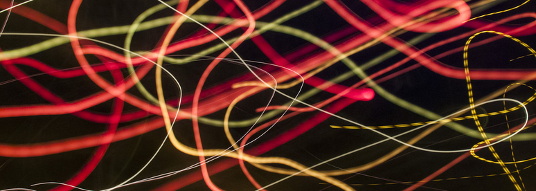 colourful streams of light photographed in an abstract way