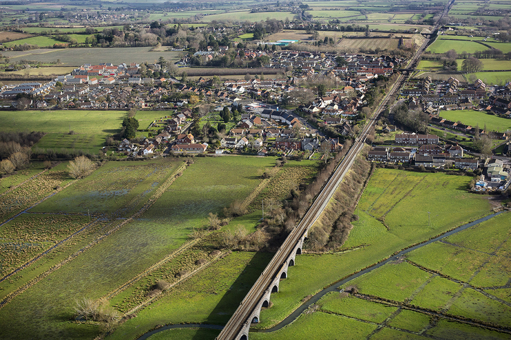 aerial photo of Langport