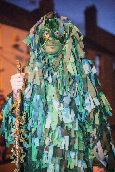 traditional green man costume