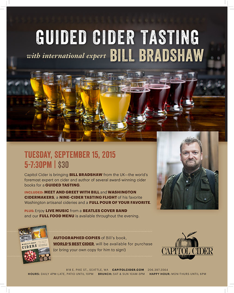 Cider based tasting event poster