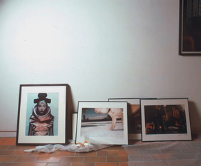 gallery prints resting on the floor