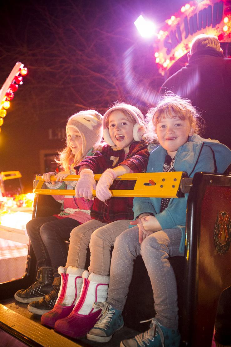 Somerset tourism photo of children enjoying the ride in Langport